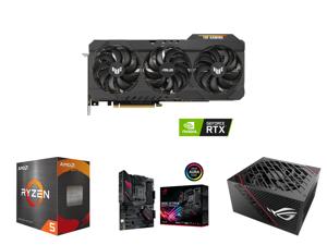 ASUS TUF Gaming GeForce RTX 3080 Ti 12GB GDDR6X PCI Express 4.0 x16 Video Card TUF-RTX3080TI-O12G-GAMING and AMD Ryzen 5 5600X 6-Core 3.7 GHz Socket AM4 65W 100-100000065BOX Desktop Processor and ASUS ROG Strix B550-F Gaming (WiFi 6) AMD AM