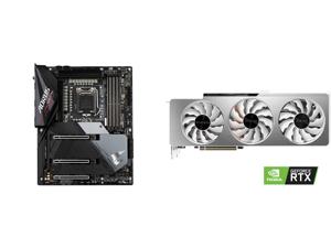 GIGABYTE Z590 AORUS ULTRA LGA 1200 Intel Z590 SATA 6Gb/s ATX Intel Motherboard and GIGABYTE GeForce RTX 3080 VISION OC 10GB Video Card GV-N3080VISION OC-10GD