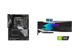 GIGABYTE Z590 AORUS ULTRA LGA 1200 Intel Z590 SATA 6Gb/s ATX Intel Motherboard and GIGABYTE Gaming GeForce RTX 3080 GAMING OC WATERFORCE WB 10GB GDDR6X PCI Express 4.0 x16 ATX Video Card GV-N3080GAMINGOC WB-10GD