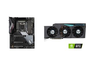 GIGABYTE Z590 AORUS ULTRA LGA 1200 Intel Z590 SATA 6Gb/s ATX Intel Motherboard and GIGABYTE Eagle GeForce RTX 3080 Ti 12GB GDDR6X PCI Express 4.0 x16 ATX Video Card GV-N308TEAGLE OC-12GD