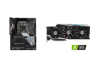 GIGABYTE Z590 AORUS ULTRA LGA 1200 Intel Z590 SATA 6Gb/s ATX Intel Motherboard and GIGABYTE Gaming GeForce RTX 3080 Ti 12GB GDDR6X PCI Express 4.0 x16 ATX Video Card GV-N308TGAMING OC-12GD
