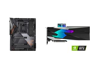 GIGABYTE Z490 AORUS MASTER LGA 1200 Intel Z490 ATX Motherboard with Triple M.2 SATA 6Gb/s USB 3.2 Gen 2 WIFI 6 2.5 GbE LAN and GIGABYTE Gaming GeForce RTX 3080 GAMING OC WATERFORCE WB 10GB GDDR6X PCI Express 4.0 x16 ATX Video Card GV-N3080G