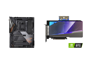 GIGABYTE Z490 AORUS MASTER LGA 1200 Intel Z490 ATX Motherboard with Triple M.2 SATA 6Gb/s USB 3.2 Gen 2 WIFI 6 2.5 GbE LAN and GIGABYTE AORUS GeForce RTX 3080 XTREME WATERFORCE WB 10G Graphics Card WATERFORCE Water Block Cooling System 10GB