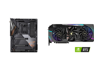 GIGABYTE Z490 AORUS MASTER LGA 1200 Intel Z490 ATX Motherboard with Triple M.2 SATA 6Gb/s USB 3.2 Gen 2 WIFI 6 2.5 GbE LAN and GIGABYTE AORUS GeForce RTX 3080 Ti 12GB PCI Express 4.0 x16 Video Card GeForce RTX 3080 Ti XTREME 12G