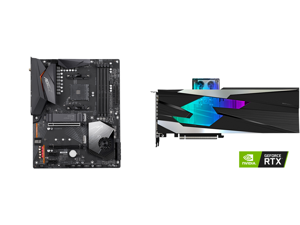 GIGABYTE X570 AORUS ELITE WIFI AM4 AMD X570 SATA 6Gb/s ATX AMD Motherboard and GIGABYTE Gaming GeForce RTX 3080 GAMING OC WATERFORCE WB 10GB GDDR6X PCI Express 4.0 x16 ATX Video Card GV-N3080GAMINGOC WB-10GD