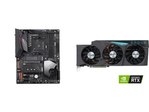 GIGABYTE X570 AORUS ELITE WIFI AM4 AMD X570 SATA 6Gb/s ATX AMD Motherboard and GIGABYTE Eagle GeForce RTX 3080 Ti 12GB GDDR6X PCI Express 4.0 x16 ATX Video Card GV-N308TEAGLE OC-12GD