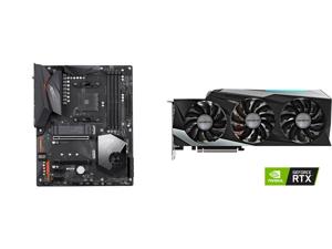 GIGABYTE X570 AORUS ELITE WIFI AM4 AMD X570 SATA 6Gb/s ATX AMD Motherboard and GIGABYTE Gaming GeForce RTX 3080 Ti 12GB GDDR6X PCI Express 4.0 x16 ATX Video Card GV-N308TGAMING OC-12GD