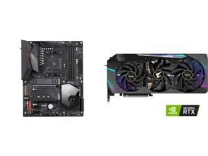 GIGABYTE X570 AORUS ELITE WIFI AM4 AMD X570 SATA 6Gb/s ATX AMD Motherboard and GIGABYTE AORUS GeForce RTX 3080 Ti 12GB PCI Express 4.0 x16 Video Card GeForce RTX 3080 Ti XTREME 12G