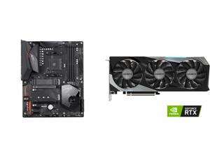GIGABYTE X570 AORUS ELITE AMD Ryzen 3000 PCIe 4.0 SATA 6Gb/s USB 3.2 AMD X570 ATX Motherboard and GIGABYTE GeForce RTX 3070 GAMING OC 8GB Video Card GV-N3070GAMING OC-8GD