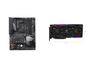 GIGABYTE X570 AORUS ELITE AMD Ryzen 3000 PCIe 4.0 SATA 6Gb/s USB 3.2 AMD X570 ATX Motherboard and GIGABYTE AORUS GeForce RTX 3070 MASTER 8GB Video Card GV-N3070AORUS M-8GD