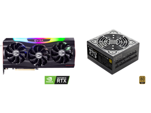 EVGA GeForce RTX 3090 FTW3 ULTRA GAMING Video Card 24G-P5-3987-KR 24GB GDDR6X iCX3 Technology ARGB LED Metal Backplate and EVGA SuperNOVA 850 G3 220-G3-0850-X1 80+ GOLD 850W Fully Modular EVGA ECO Mode with New HDB Fan Includes FREE Power O