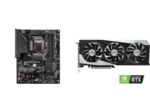 GIGABYTE Z590 UD LGA 1200 Intel Z590 ATX Motherboard with Triple M.2 PCIe 4.0 USB 3.2 Gen 2 2.5GbE LAN and GIGABYTE GeForce RTX 3060 Ti GAMING OC 8GB Video Card GV-N306TGAMING OC-8GD