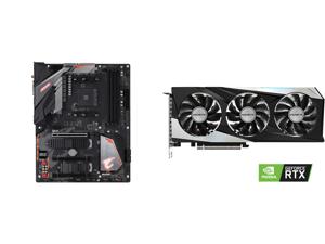 GIGABYTE B450 AORUS PRO WIFI (rev. 1.0) AM4 AMD B450 SATA 6Gb/s ATX AMD Motherboard and GIGABYTE GeForce RTX 3060 Ti GAMING OC 8GB Video Card GV-N306TGAMING OC-8GD