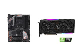 GIGABYTE B450 AORUS PRO WIFI (rev. 1.0) AM4 AMD B450 SATA 6Gb/s ATX AMD Motherboard and GIGABYTE AORUS GeForce RTX 3060 Ti MASTER 8GB Video Card GV-N306TAORUS M-8GD