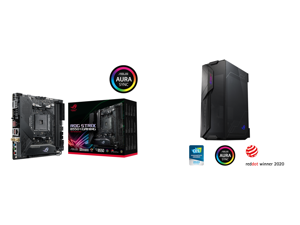 ASUS ROG STRIX B550-I GAMING AM4 Mini ITX AMD Motherboard and ASUS ROG Z11 Mini-ITX/DTX Mid-Tower PC Gaming Case with Patented 11° Tilt Design Compatible with ATX Power Supply or a 3-Slot Graphics Tempered-glass Panels Front I/O USB 3.2 Gen