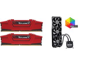 G.SKILL Ripjaws V Series 16GB (2 x 8GB) 288-Pin DDR4 SDRAM DDR4 3200 (PC4 25600) Desktop Memory Model F4-3200C16D-16GVRB and EVGA CLC 360 400-HY-CL36-V1 All-In-One RGB LED CPU Liquid Cooler 3x FX12 120mm PWM Fans Intel AMD