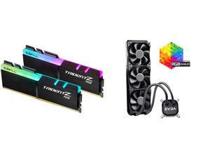 G.SKILL TridentZ RGB Series 32GB (2 x 16GB) 288-Pin DDR4 SDRAM DDR4 3200 (PC4 25600) Intel XMP 2.0 Desktop Memory Model F4-3200C16D-32GTZR and EVGA CLC 360 400-HY-CL36-V1 All-In-One RGB LED CPU Liquid Cooler 3x FX12 120mm PWM Fans Intel AMD
