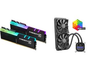 G.SKILL TridentZ RGB Series 32GB (2 x 16GB) 288-Pin DDR4 SDRAM DDR4 3600 (PC4 28800) Intel XMP 2.0 Desktop Memory Model F4-3600C16D-32GTZRC and EVGA CLC 280mm All-In-One RGB LED CPU Liquid Cooler 2x FX13 140mm PWM Fans Intel AMD 400-HY-CL28