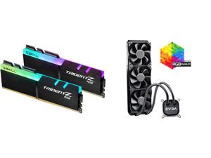 G.SKILL TridentZ RGB Series 32GB (2 x 16GB) 288-Pin DDR4 SDRAM DDR4 3600 (PC4 28800) Intel XMP 2.0 Desktop Memory Model F4-3600C16D-32GTZRC and EVGA CLC 360 400-HY-CL36-V1 All-In-One RGB LED CPU Liquid Cooler 3x FX12 120mm PWM Fans Intel AM