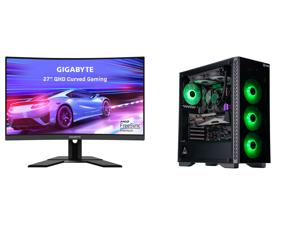 "GIGABYTE G27QC A 27"" 165Hz 2560 x 1440 1ms (MPRT) 88% DCI-P3 HDR Ready FreeSync Premium 1 x Display Port 1.2 2 x HDMI 2.0 2 x USB 3.0 Curved Gaming Monitor and ABS Gladiator Gaming PC - Ryzen 7 3700X - GeForce RTX 3080 - G.Skill TridentZ RG"