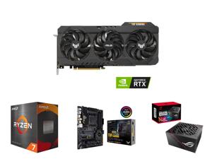 ASUS TUF Gaming GeForce RTX 3080 Ti 12GB GDDR6X PCI Express 4.0 x16 Video Card TUF-RTX3080TI-O12G-GAMING and AMD Ryzen 7 5800X 8-Core 3.8 GHz Socket AM4 105W 100-100000063WOF Desktop Processor and ASUS TUF Gaming X570-PRO (WiFi 6) AMD AM4 (