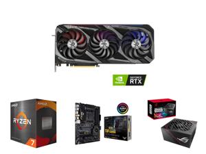 ASUS ROG STRIX GeForce RTX 3080 Ti 12GB GDDR6X PCI Express 4.0 x16 Video Card ROG-STRIX-RTX3080TI-O12G-GAMING and AMD Ryzen 7 5800X 8-Core 3.8 GHz Socket AM4 105W 100-100000063WOF Desktop Processor and ASUS TUF Gaming X570-PRO (WiFi 6) AMD