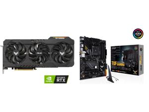 ASUS TUF Gaming GeForce RTX 3080 Ti 12GB GDDR6X PCI Express 4.0 x16 Video Card TUF-RTX3080TI-O12G-GAMING and ASUS TUF GAMING B550-PLUS (WI-FI) AM4 AMD B550 SATA 6Gb/s ATX AMD Motherboard