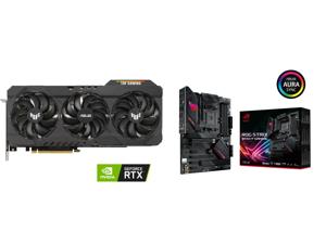 ASUS TUF Gaming GeForce RTX 3080 Ti 12GB GDDR6X PCI Express 4.0 x16 Video Card TUF-RTX3080TI-O12G-GAMING and ASUS ROG STRIX B550-F GAMING AM4 AMD B550 SATA 6Gb/s ATX AMD Motherboard