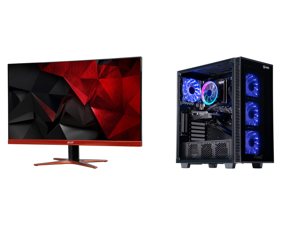 """Acer XG270HU omidpx 27"""" 2K 2560 x 1440 1ms 144Hz AMD FreeSync Technology Edge-to-Edge Frameless Design DVI-D HDMI DisplayPort Built-in Speakers LED Backlit LCD Gaming Monitor and ABS Challenger Gaming PC - Ryzen 5 3600 - GeForce GTX 1660 Su"""