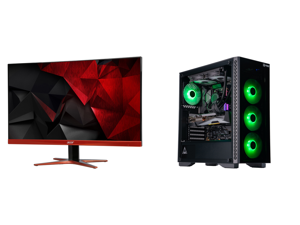 """Acer XG270HU omidpx 27"""" 2K 2560 x 1440 1ms 144Hz AMD FreeSync Technology Edge-to-Edge Frameless Design DVI-D HDMI DisplayPort Built-in Speakers LED Backlit LCD Gaming Monitor and ABS Gladiator Gaming PC - Ryzen 7 3700X - GeForce RTX 3080 -"""