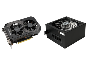 ASUS TUF Gaming GeForce GTX 1660 SUPER Overclocked 6GB Edition HDMI DP DVI Gaming Graphics Card (TUF-GTX1660S-O6G-GAMING) and Rosewill Glacier Series 600W Semi-Modular Gaming Power Supply with Silent Aero-Diversion Fan 80 PLUS Bronze Certif