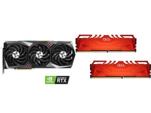 MSI Gaming GeForce RTX 3090 24GB GDDR6X PCI Express 4.0 SLI Support Video Card RTX 3090 GAMING X TRIO 24G and OLOy 16GB (2 x 8GB) 288-Pin DDR4 SDRAM DDR4 3600 (PC4 28800) Desktop Memory Model MD4U0836180BHRDA