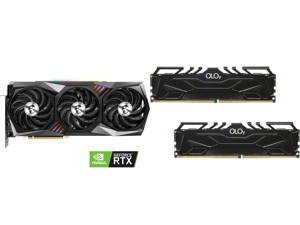 MSI Gaming GeForce RTX 3090 24GB GDDR6X PCI Express 4.0 SLI Support Video Card RTX 3090 GAMING X TRIO 24G and OLOy 16GB (2 x 8GB) 288-Pin DDR4 SDRAM DDR4 3600 (PC4 28800) Desktop Memory Model ND4U0836161BHKDA