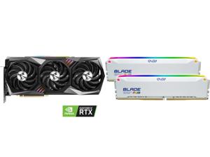 MSI Gaming GeForce RTX 3090 24GB GDDR6X PCI Express 4.0 SLI Support Video Card RTX 3090 GAMING X TRIO 24G and OLOy Blade RGB 16GB (2 x 8GB) 288-Pin DDR4 SDRAM DDR4 3600 (PC4 28800) Desktop Memory Model ND4U0836182BRWDE
