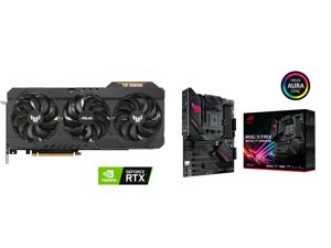 ASUS TUF Gaming GeForce RTX 3090 24GB GDDR6X PCI Express 4.0 x16 SLI Support Video Card TUF-RTX3090-O24G-GAMING and ASUS ROG STRIX B550-F GAMING AM4 AMD B550 SATA 6Gb/s ATX AMD Motherboard