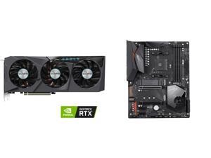 GIGABYTE Eagle GeForce RTX 3070 Ti 8GB GDDR6X PCI Express 4.0 x16 ATX Video Card GV-N307TEAGLE-8GD and GIGABYTE X570 AORUS ELITE AMD Ryzen 3000 PCIe 4.0 SATA 6Gb/s USB 3.2 AMD X570 ATX Motherboard