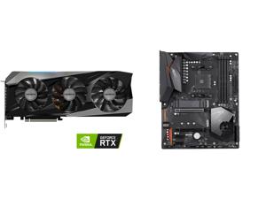 GIGABYTE Gaming GeForce RTX 3070 Ti 8GB GDDR6X PCI Express 4.0 x16 ATX Video Card GV-N307TGAMING OC-8GD and GIGABYTE X570 AORUS ELITE AMD Ryzen 3000 PCIe 4.0 SATA 6Gb/s USB 3.2 AMD X570 ATX Motherboard