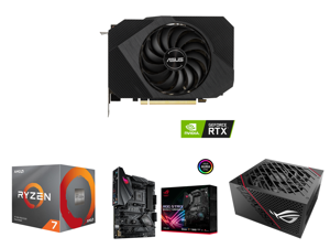 ASUS Phoenix NVIDIA GeForce RTX 3060 Gaming Graphics Card (PCIe 4.0 12GB GDDR6 Memory HDMI 2.1 DisplayPort 1.4a Axial-tech Fan Design Protective Backplate Dual Ball Fan Bearings) PH-RTX3060-12G and AMD RYZEN 7 3700X 8-Core 3.6 GHz (4.4 GHz