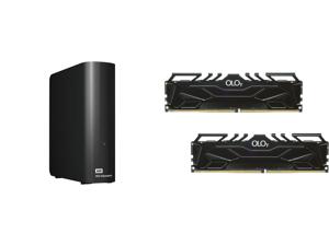 WD Elements 14TB USB 3.0 Micro-B Desktop Hard Drive Black and OLOy 64GB (2 x 32GB) 288-Pin DDR4 SDRAM DDR4 3000 (PC4 24000) Desktop Memory Model MD4U323016DJDA