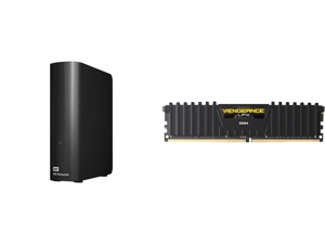 WD Elements 16TB USB 3.0 Micro-B Desktop External Hard Drive Black and CORSAIR Vengeance LPX 32GB 288-Pin DDR4 SDRAM DDR4 3000 (PC4 24000) Intel XMP 2.0 Desktop Memory Model CMK32GX4M1D3000C16