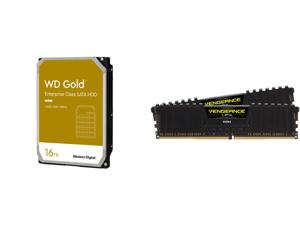 WD Gold 16TB Enterprise Class Hard Disk Drive - 7200 RPM Class SATA 6Gb/s 512MB Cache 3.5 Inch - WD161KRYZ and CORSAIR Vengeance LPX 64GB (2 x 32GB) 288-Pin DDR4 SDRAM DDR4 3200 (PC4 25600) Intel XMP 2.0 Desktop Memory Model CMK64GX4M2E3200