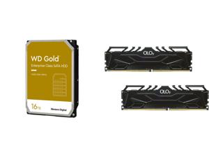 WD Gold 16TB Enterprise Class Hard Disk Drive - 7200 RPM Class SATA 6Gb/s 512MB Cache 3.5 Inch - WD161KRYZ and OLOy 64GB (2 x 32GB) 288-Pin DDR4 SDRAM DDR4 3000 (PC4 24000) Desktop Memory Model MD4U323016DJDA
