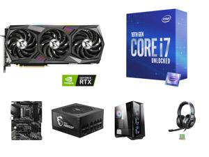MSI Gaming GeForce RTX 3080 Ti 12GB GDDR6X PCI Express 4.0 x16 Video Card RTX 3080 Ti Gaming X Trio 12G and Intel Core i7-10700K Comet Lake 8-Core 3.8 GHz LGA 1200 125W Desktop Processor w/ Intel UHD Graphics 630 and MSI PRO Z490-A PRO LGA