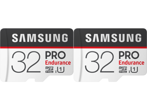 2 x SAMSUNG 32GB PRO Endurance microSDHC UHS-I/U1 Memory Card with Adapter Speed Up to 100MB/s (MB-MJ32GA/AM)