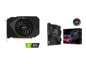 ASUS Phoenix NVIDIA GeForce RTX 3060 Gaming Graphics Card (PCIe 4.0 12GB GDDR6 Memory HDMI 2.1 DisplayPort 1.4a Axial-tech Fan Design Protective Backplate Dual Ball Fan Bearings) PH-RTX3060-12G and ASUS ROG STRIX B550-F GAMING AM4 AMD B550