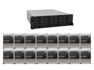 """Synology 16 bay RackStation RS4021xs+ (Diskless) and 16 x Synology HAT5300-8T Enterprise 8TB HDD SATA III 6Gb/s 512e 7200 RPM 256MB Cache 3.5"""" Internal Hard Drive"""