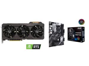 ASUS TUF Gaming GeForce RTX 3070 8GB GDDR6 PCI Express 4.0 Video Card TUF-RTX3070-O8G-GAMING and ASUS PRIME B550-PLUS AM4 AMD B550 SATA 6Gb/s ATX AMD Motherboard