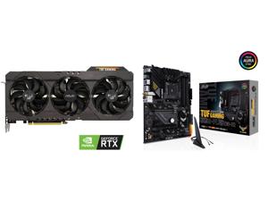 ASUS TUF Gaming GeForce RTX 3070 8GB GDDR6 PCI Express 4.0 Video Card TUF-RTX3070-O8G-GAMING and ASUS TUF GAMING B550-PLUS (WI-FI) AM4 AMD B550 SATA 6Gb/s ATX AMD Motherboard