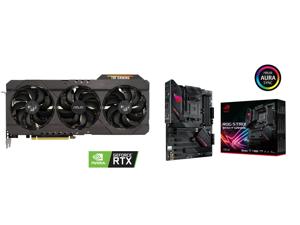 ASUS TUF Gaming GeForce RTX 3070 8GB GDDR6 PCI Express 4.0 Video Card TUF-RTX3070-O8G-GAMING and ASUS ROG STRIX B550-F GAMING AM4 AMD B550 SATA 6Gb/s ATX AMD Motherboard
