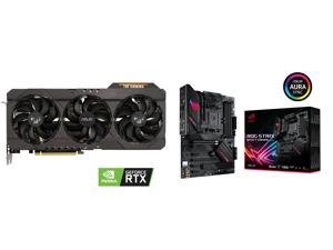 ASUS TUF Gaming GeForce RTX 3070 8GB GDDR6 PCI Express 4.0 Video Card TUF-RTX3070-O8G-GAMING and ASUS ROG Strix B550-F Gaming (WiFi 6) AMD AM4 (3rd Gen Ryzen) ATX Gaming Motherboard (PCIe 4.0 2.5Gb LAN BIOS FlashBack HDMI 2.1 Addressable Ge